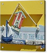 Gone To The Beach Acrylic Print