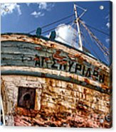 Greek Fishing Boat Acrylic Print