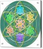 Green Revolution Chakra Mandala Art Yoga Meditation Tools Navinjoshi  Rights Managed Images Graphic  Acrylic Print
