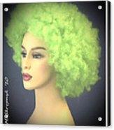 Green Velvet Acrylic Print