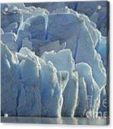 Grey Glacier In Chilean National Park Acrylic Print