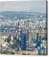 Haifa Petrochemical Plant Acrylic Print