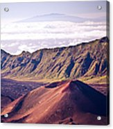 Haleakala Sunrise On The Summit Maui Hawaii - Kalahaku Overlook Acrylic Print