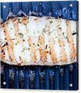 Halibut Fillet On Bbq Acrylic Print