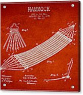 Hammock Patent Drawing From 1895 Acrylic Print