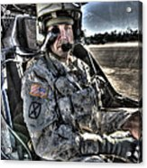 Hdr Image Of A Pilot Equipped Acrylic Print