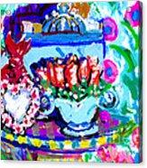 Heart Roses And Tiara Acrylic Print