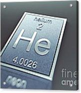 Helium Chemical Element Acrylic Print