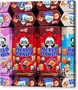 Hello Panda Biscuits Acrylic Print
