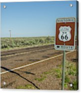 Historic Old Route 66 Passed Acrylic Print