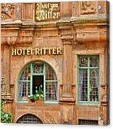 Hotel Ritter in Heidelberg  Acrylic Print
