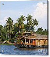 Houseboats On The Kerala Backwaters Acrylic Print