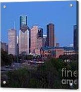 Houston Skyline At Dusk Acrylic Print