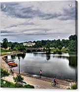 Hoyt Lake Delaware Park 0004 Acrylic Print