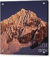 Mt Huandoy Sunrise Peru Acrylic Print