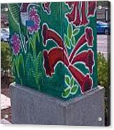 Hummingbird Traffic Signal Box Acrylic Print