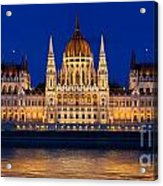 Hungarian Parliament In Budapest Acrylic Print