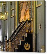 Imam Pulpit Sultan Mosque Singapore Acrylic Print