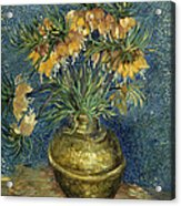 Imperial Fritillaries In A Copper Vase Acrylic Print