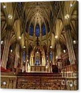 Inside St Patricks Cathedral New York City Acrylic Print by Amy Cicconi