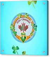 Irish Canadian Acrylic Print
