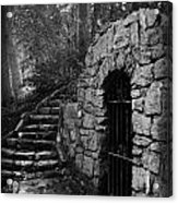 Iron Door In A Garden Acrylic Print