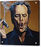 Jack Nicholson Painting Acrylic Print