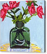 Jeff's Vase And Rodger's Roses Acrylic Print