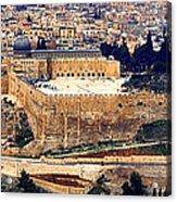 Jerusalem From Mount Olive Acrylic Print by Thomas R Fletcher