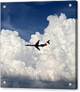 Jetliner And Clouds Acrylic Print