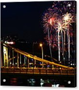 July 4th Fireworks In Pittsburgh Acrylic Print