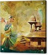 Kathak Dancer Acrylic Print by Catf
