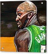 Kevin Garnett Acrylic Print by Dave Olsen