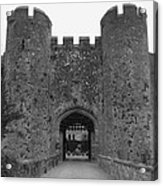 Keys To The Castle - Black And White Acrylic Print