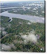 Kikori River In The Rainforest Kikori Acrylic Print