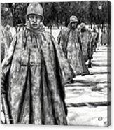 Korean War Memorial Washington Dc Acrylic Print