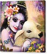 Krishna Gopal Acrylic Print by Lila Shravani