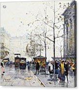 La Madeleine Paris Acrylic Print by Eugene Galien-Laloue