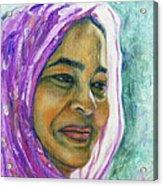 Lady From Bangladesh Acrylic Print