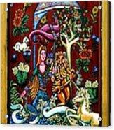 Lady Lion And Unicorn Acrylic Print