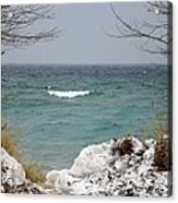 Lake Michigan In December Acrylic Print