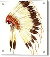 Lakota Headdress Acrylic Print