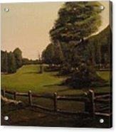 Landscape Of Duxbury Golf Course - Image Of Original Oil Painting Acrylic Print