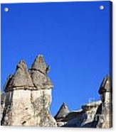 Landscape Of Limestone Fairy Chimneys At Zelve In Cappadocia Turkey Acrylic Print