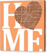 Las Vegas Street Map Home Heart - Las Vegas Nevada Road Map In A Acrylic Print