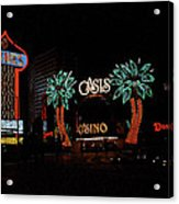Las Vegas With Watercolor Effect Acrylic Print