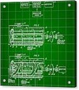 Laser Patent 1958 - Green Acrylic Print