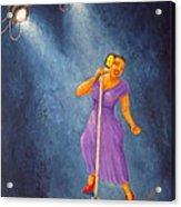 Latina Jazz Diva Acrylic Print