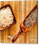 Lavender Seeds And Bath Salts Acrylic Print