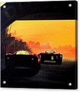 Le Mans Sunset Acrylic Print